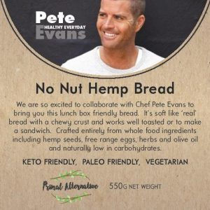 Pete Evans No Nut Hemp Bread Label